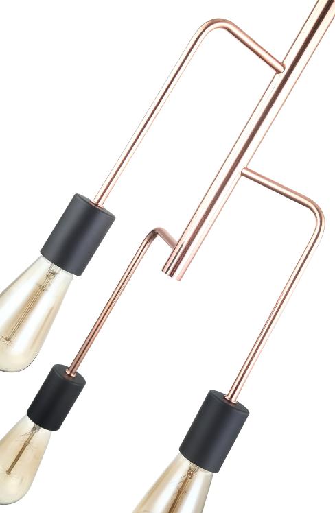 Venezia Tre hanglamp - zwart - metaal - glas