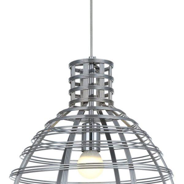 Anni Retro hanglamp - chroom - zwart - 5 lichts