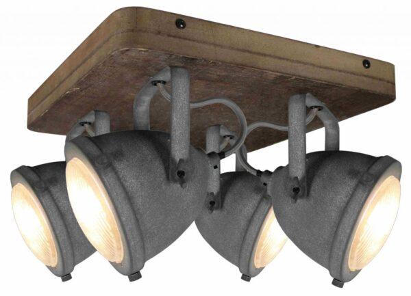 Woody vloerlamp - betonlook