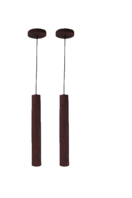 Anni Retro hanglamp - koper - zwart - 5 lichts