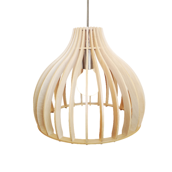 Quattro tafellamp - 4 lichts - beton met vintage wood