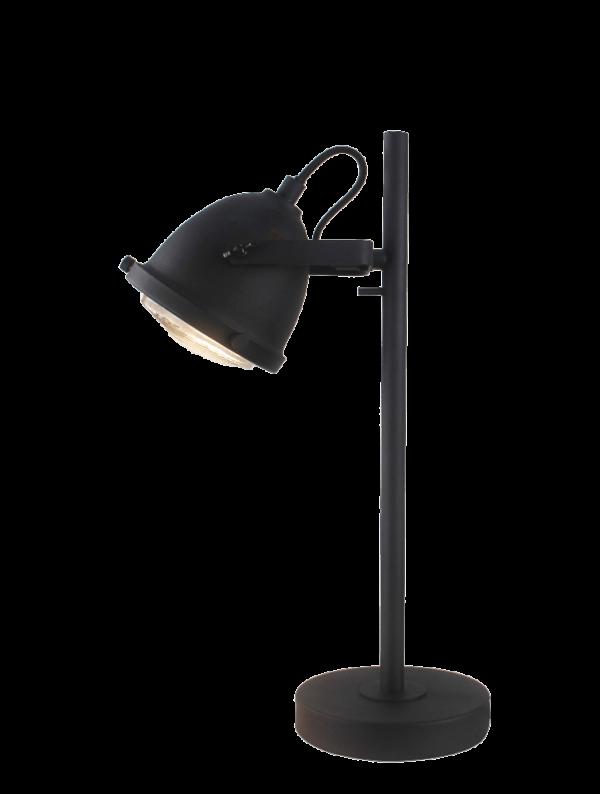 Industria spot - 1 lichts - zwart corrund black met rooster
