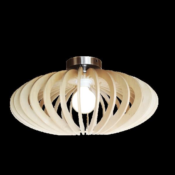Curvato plafondlamp - 1 lichts - 45 cm - hout natuur