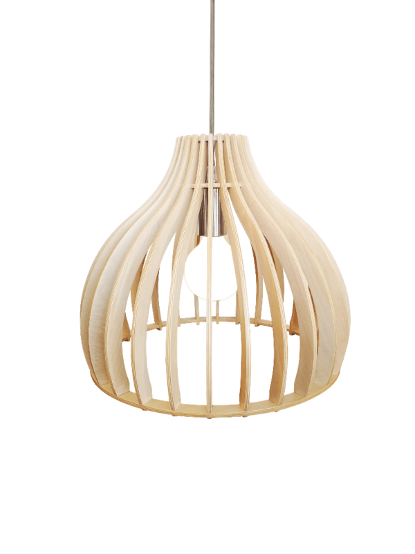 Archini hanglamp - 35 cm - hout natuur