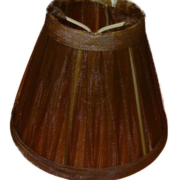 Klemkapje Organza - donker bruin