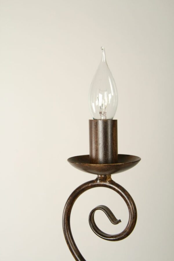 Kroonluchter Korf - koloniaal - 12 lichts