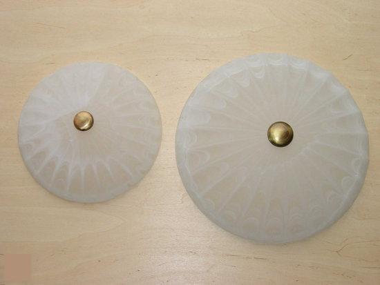 Coste plafondlamp - (1 stuks) - 30 cm - marmer glas, brons
