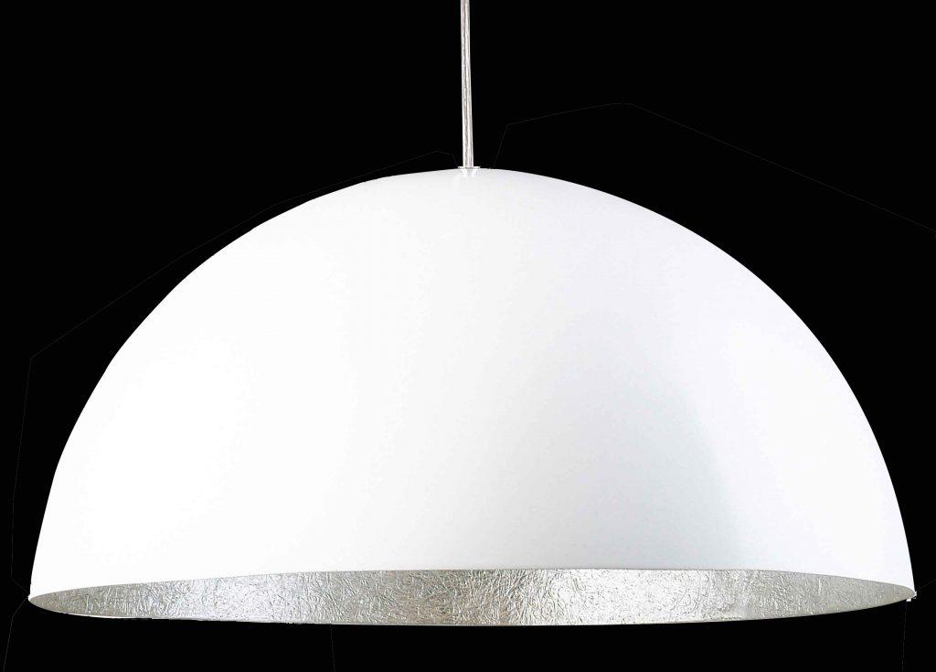 Linda Hanglamp - wit - zilver - 70 cm.