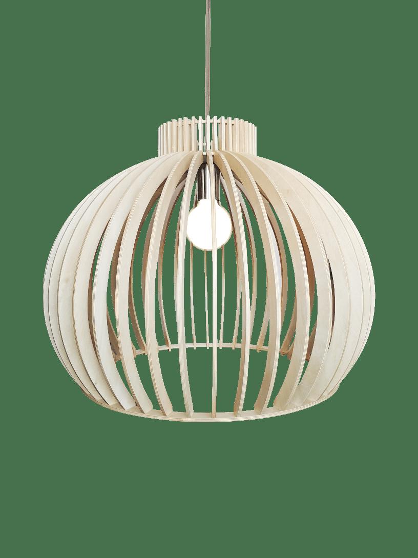 Sfera hanglamp - 55 cm - hout natuur