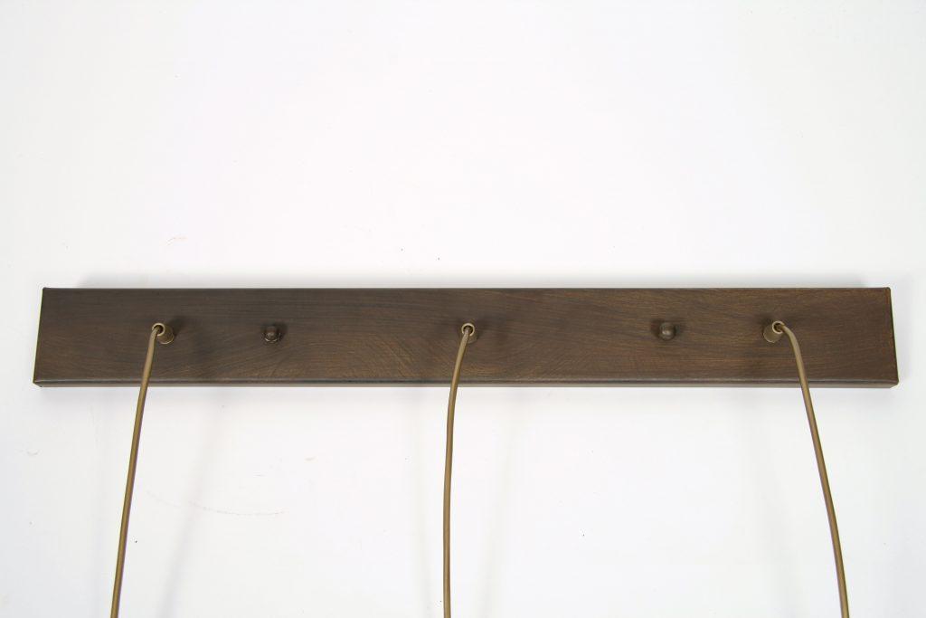 Kim hanglamp - balk - 3 lichts - koloniaal bruin