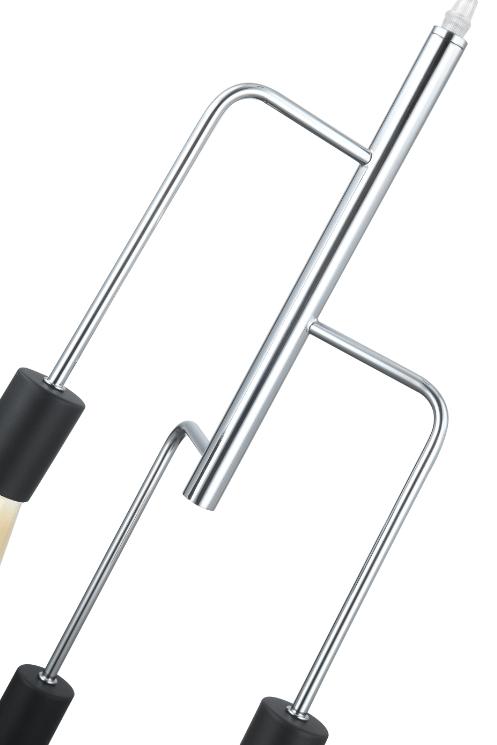 Anni Retro hanglamp - chroom - zwart - 3 lichts