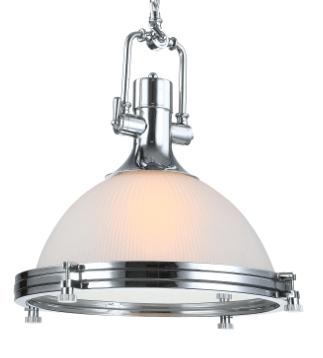 Induglas hanglamp chroom - glas