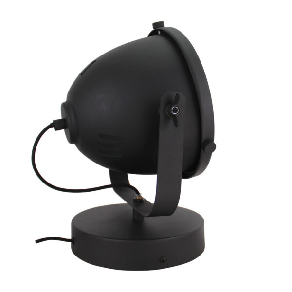 Nero wandlamp - 1 lichts - 20 cm - zwart met glas