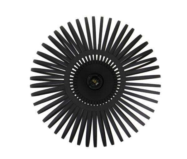 Curvato tafellamp - 1 lichts - 30 cm - zwart corrund black