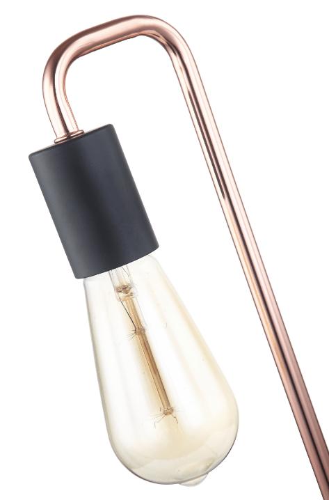 Basic Retro tafellamp - koper - zwart