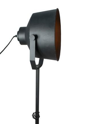 Vloerlamp Eros - zwart corrund black