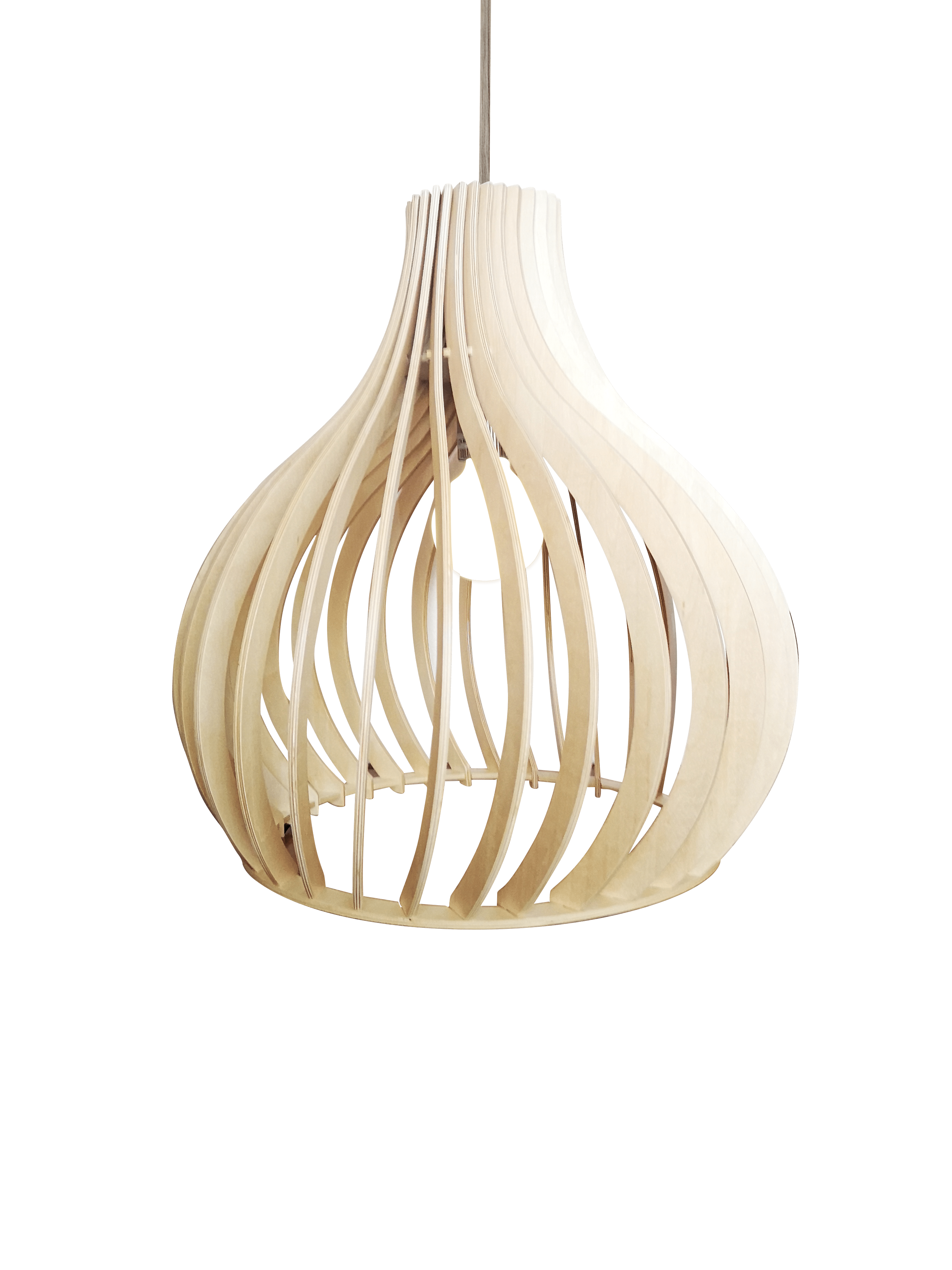 Archini Twist hanglamp - 45 cm - hout natuur